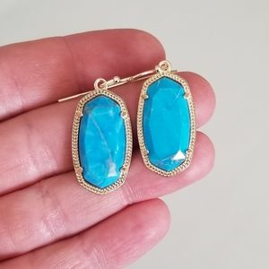 Kendra Scott Jewelry - Kendra Scott Aqua Howlite Dani Earrings